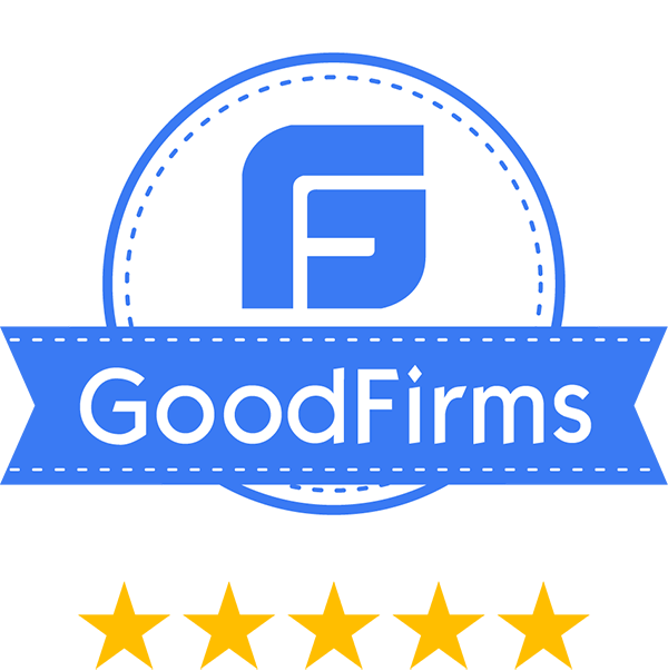 goodfirms Award achieved by web development company Knovator.