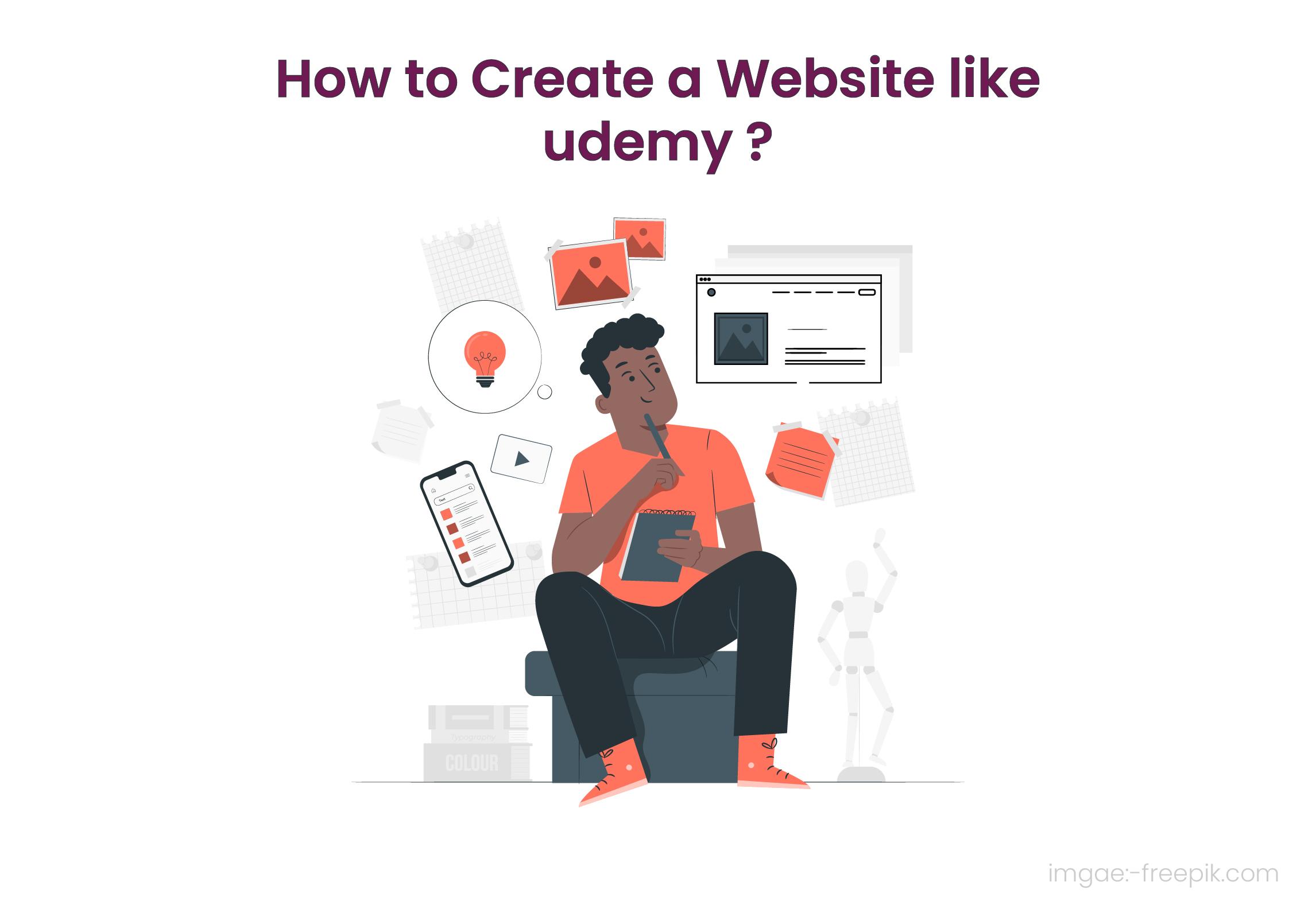 Create a Website Like Udemy